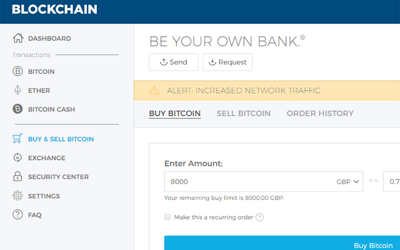 Easily buy bitcoin with Blockchain Wallet and Coinfiy